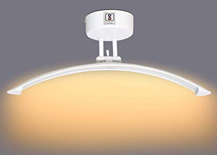D'Mak Waterproof Curved LED Wall Light (Warm White, 6 W)