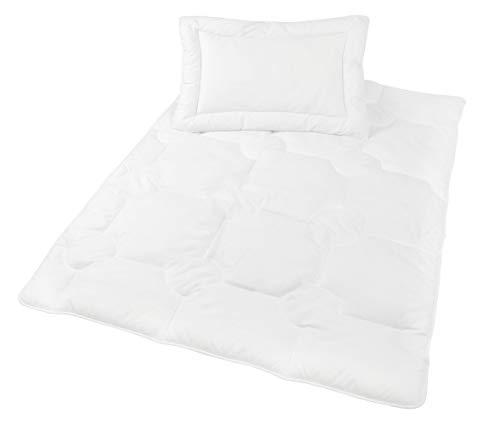 Zollner Kinder und Baby Bettenset, Kopfkissen 40x60 cm, Bettdecke 100x135 cm, Öko-Tex