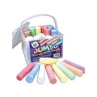 1 BUCKET 20 ASSORTED JUMBO SIDEWALK PLAYGROUND CHALKS by ci