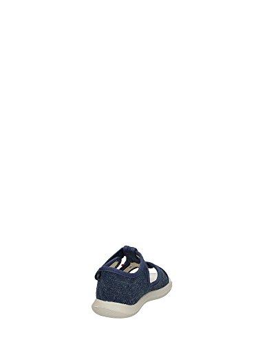 Naturino Naturino Sandaletti-Bride Enfant Bleu Toile 7786 Boucle Bleu - bleu