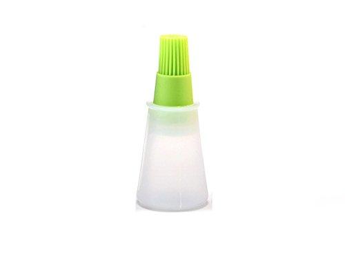 popowbe Flacher Boden Öl Pinsel Flasche Grill Zubehör Silikon BBQ Öl Flasche mit Sweep House Outdoor GRILLBESTECK grün -