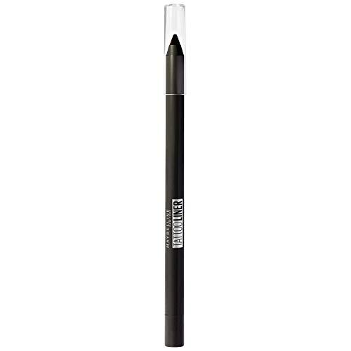 Maybelline New York - Crayon Gel Effet Tatouage Yeux - Waterproof avec Tenue Extrême jusqu'à 36h - Tattoo Liner - 900 Deep Onyx (Noir Intense)