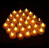 elegantstunning Domire 12 batteriebetriebene LED Teelicht Kerzen flammenlose Heatless Faux Hochzeit Urlaub Weihnachten Thanksgiving Party Light