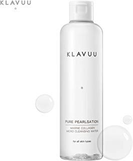 PURE PEARLSATION Marine Collagen Micro Cleansing Water Makeup Remover for Face, Lip, and Eyes. (250 ml / 8.45 fl.oz) - La Body Toning Lotion