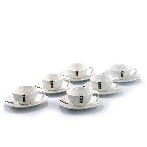 Juego 6 tazas de café expresso de porcelana
