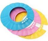 Viskey Safe Shampoo Shower Bathing Protect Soft Cap Hat for Baby Children button multicolor