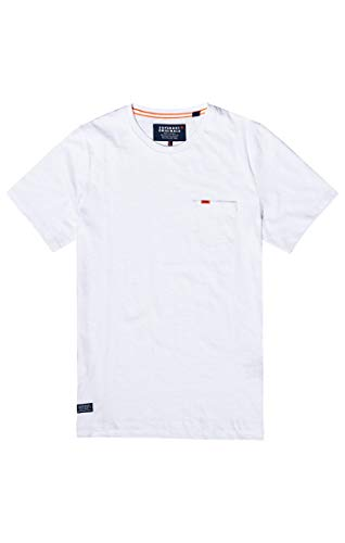 Superdry Herren Dry Originals S/S Pocket Tee T-Shirt, Weiß (Optic 01C), XXL -