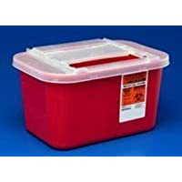PT# -31143699 PT# # 31143699- Container Sharps-A-Gator Red 1gal Ea by, Kendall Company by Kendall Company - Red Sharps Container