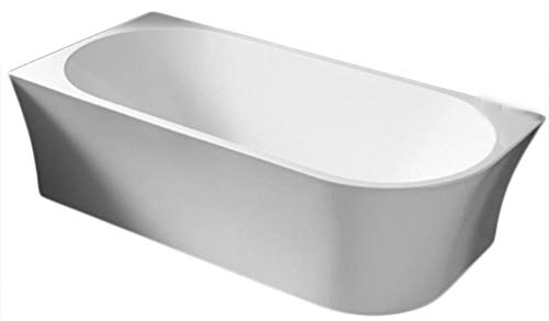 Freistehende Raumsparbadewanne NOVA CORNER Acryl Weiß - Einbau links - 170 x 78 cm- Farbe:Weiß Matt