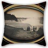 Uloveme Oil Painting Platt D. Babbitt (American, Died 1879, Active Niagara Falls, New York 1853 - 1870) - Scene At Niagara Falls Pillow Cases 18 X 18 Inches / 45 By 45 Cm Best Choice For Kitchen,st