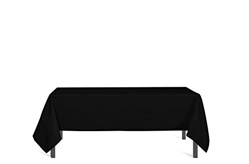 Soleil D'ocre Nappe antitache rectangle 140x300 cm ALIX noire