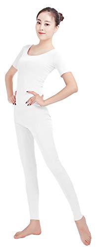 SK Studio Frauen Einteilige Unitard Ärmellos Lycra Spandex Haut Feste elastische Ganzanzug Bodysuit Tanz Yoga Kostüm