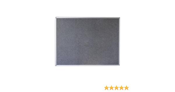 Pinwand Textiltafel Wandtafel Memoboard Filztafel mit Alurahmen 120x90 cm Grau