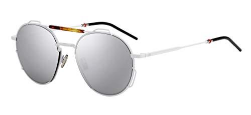Dior Herren Sonnenbrille Weiß Bianco Con Lenti Specchio Argento E Inserto Tartarugato Einheitsgröße