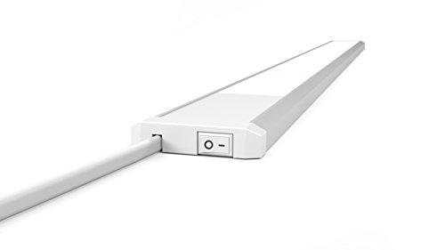 Küche Regal Licht (LED Küchen Unterbauleuchte 230V Mit Schalter 90cm LED Licht Leiste 15W 4000K Neutralweiß Schrankleuchte Sehr Flach)