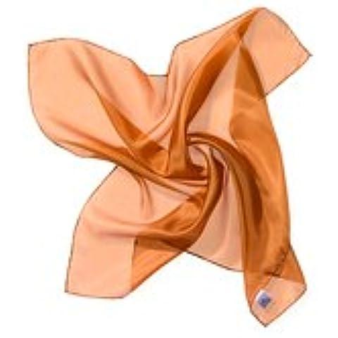 De papel de seda de tela 55 x 55 cm cobre Ponge05