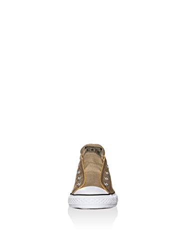 Converse Chucks enfants 651765C All Star Slip Kaki Kaki Sandy solaire d'Orange kaki