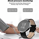 Youngband Fitness Tracker Bluetooth Watch Smart bracelet,incoming call,SMS notification,Blood pressure monitoring,Heart Rate Monitor and Pedometer for IOS and Android Device (black)