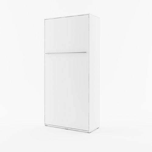 Schrankbett CONCEPT PRO Wandklappbett - Vertikal (90x200 cm, weiß matt)