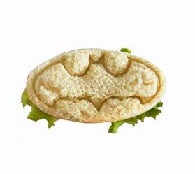 Superhero Mini Sandwiches - Keksausstecher Batman Kunststoff Form zum Backen von Shortbread und Keksteig, Gebäckstempel, Kanape, Ton