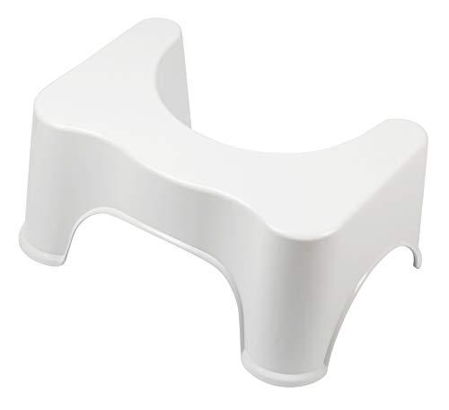 KRODO Toilettenhocker Badezimmer WC Hocker gegen Hämorrhoiden, Verstopfung, Reizdarm, Blähungen,...