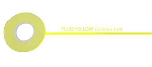 Quattroerre 10202 Stripes Adesive Giallo Fluo 3,5 mm x 10 mt, Metri