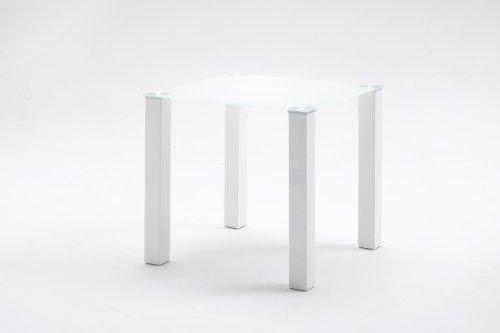 Robas Lund, Tisch, Esszimmertisch, Glastisch, Hanna, Hochglanz/weiß, 80 x 76 x 80 cm, HA80HWGW