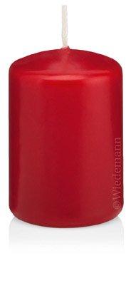 Rabatt im Sparpack Kerzen Stumpen Rubin Rot 80 x 200mm 6 Stück