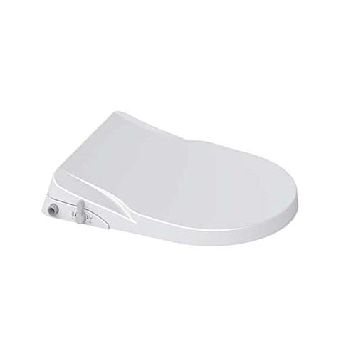 ZYTFC Weiße Toilette Seat Slow Soft Close Hinges Lid Cover mit Doppel-Düsen-Reinigungsmoden Anpassung Easy Installation,TypeD - Soft-close Seat-cover