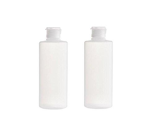 2PCS Klar Leere Nachfüllbare Kunststoff Weiche Kosmetische Squeezable Fläschchen Flaschen mit Flip Cap Reise Makeup Vorratsbehälter Shampoo Gesichtsreiniger Lotion Toilettenartikel Jar Pot (200ml/7oz) (Dispenser Cap Flasche)