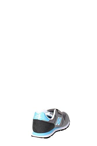 New Balance KV373YLI Sneakers Boy Synthetisches Leder Grau Blau