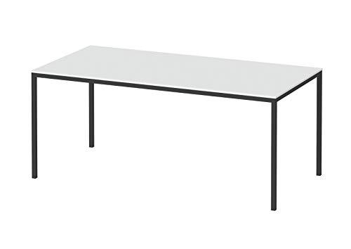 PKline Fall Esstisch 90 x 180 cm Weiss und schwarz Esszimmertisch Küchentisch Speisetisch Tisch