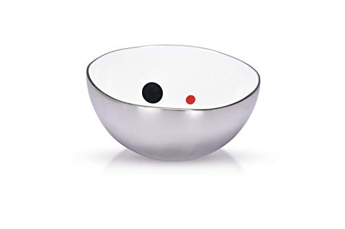 Jasper - Designer Multipurpose nut Bowl with Classic Pattern for Keeping Nuts, Candy, Dry Fruits, Snacks, Cookies etc. and Also, for Home Decoration (Silver-5.5 inch)
