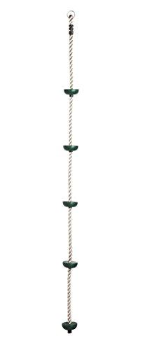 Cuerda de Escalada HIKS, para niños, con 5 Nudos de plástico, Ideal para Casas de árboles y Marcos de Escalada
