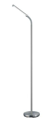 Trio Leuchten LED Stehleuchte Palo Nickel matt, Metall, 424590107 [Energieklasse A+]