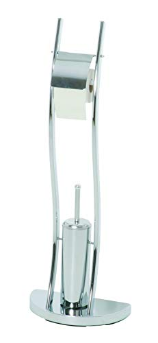 Haku-Möbel 90247 WC-Garnitur 33 x 20 x 92 cm, chrom