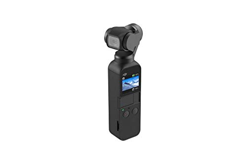DJI Osmo Pocket - 3-Axis Gimbal Stabiliser with integrated camera, snaps 12MP photos, 1/2.3-inch sensor, shoot 4K/60fps video at 100 Mbps and 4x slow-motion video at 1080p/120fps