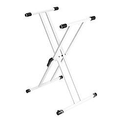 Gravity KSX 2 W Keyboardstativ - X-Form - doppelt - weiß