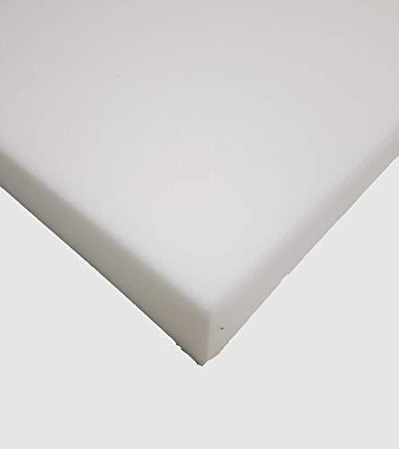 Glatt Schaumstoff Selbstklebend Dämmung Schallschutz mail (100cm x 50cm x h) Weiß o. Schwarz (100x50x5, Weiss)