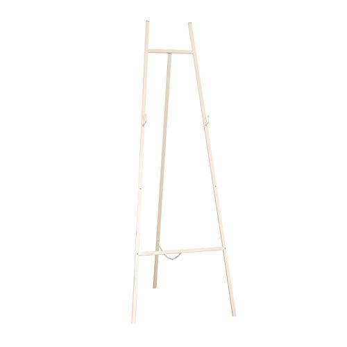 Staffelei Metall, 3 Dateien einstellbare Standing Floor Display & Präsentation Hochzeitsfotos, Malerei (Color : White)