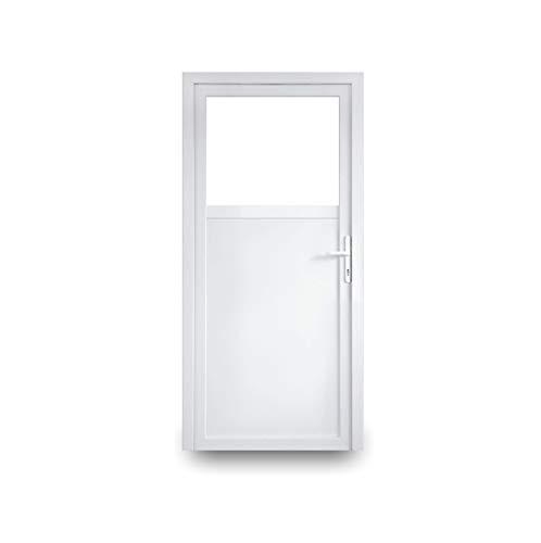 EcoLine Nebentür - Nebeneingangstür - Tür - 2-Fach, 1/3 Glas, 2/3 Füllung, außenöffnend innen weiß/außen: weiß BxH: 800 x 1900 mm DIN Links