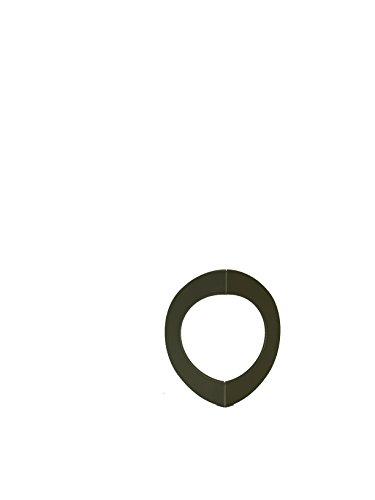 LANZZAS Homeflame Tuyau de poêle tuyau de cheminée d'angle de rosette Angle Coin pour extérieur 50 mm Diamètre 150 mm Gris