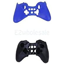 SLB Works Brand New Black+Blue Silicone Protective Case Cover For Nintendo WII U Pro Game Controller