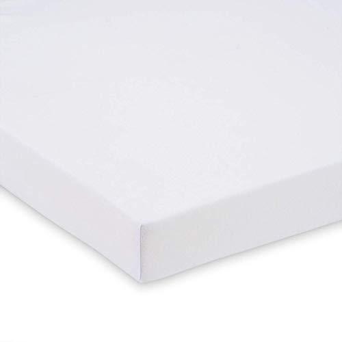 FabiMax 2679 Jersey Spannbettlaken für Beistellbett und Wiege, 90 x 55 cm, weiß