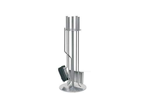 Purline fpa2 set di 4 accessori per caminetti o stufe a legna in acciaio inox