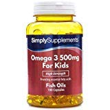 High Strength & Pure Omega 3 500mg for Kids | for Aged 5-14
