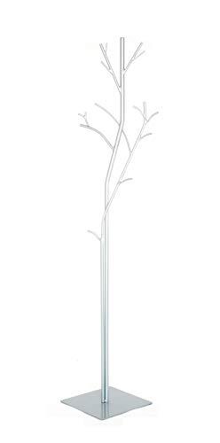 Generico Appendiabiti da Terra in Ferro BATTUTO ATTACCAPANNI Albero PLATANO Bianco Base Specchio