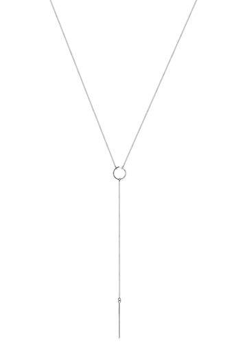 Elli Damen Schmuck Echtschmuck Halskette Kette Y-Kette Geo Blogger Trend Sterling Silber 925 Länge 60 cm