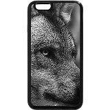 iPhone 6S Plus Coque, iPhone 6Plus Coque (Noir et Blanc)-Loup