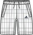 Adidas adiPure Short white (XL-58)